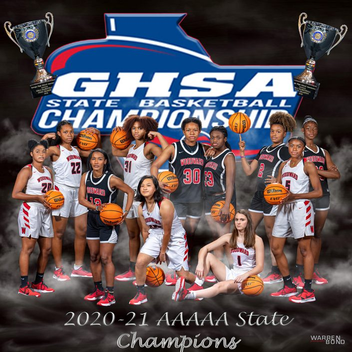 Woodward Ladies Basketball Team at GHSA Championship | Warren Bond Photography